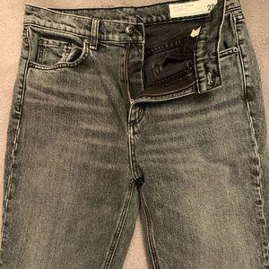 Rag & Bone Black High Rise Ankle Cut Jeans